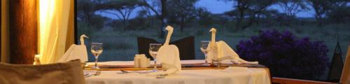 Dining in Mapito Luxury Tented Camp Serengeti